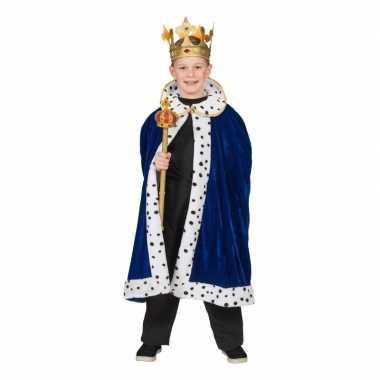 Goedkoop carnavalskleding koning cape jongens