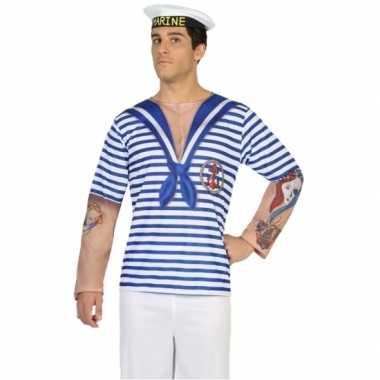 Goedkoop carnavalskleding matrozen shirt