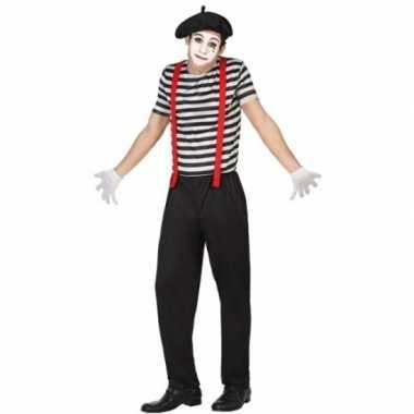 Goedkoop carnavalskleding mime heren