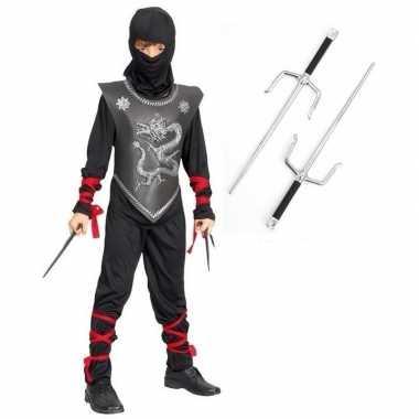 Goedkoop carnavalskleding ninja carnavalskleding dolkenset maat l kid