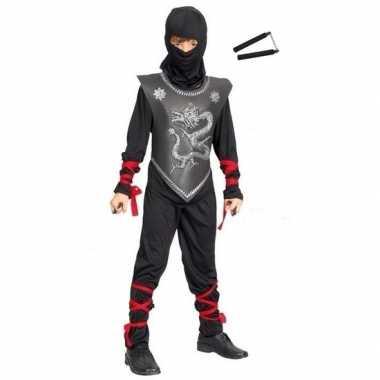 Goedkoop carnavalskleding ninja carnavalskleding vechtstokkenset maat