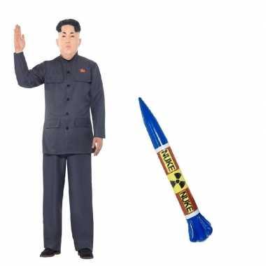 Goedkoop carnavalskleding noord koreaanse leider raket