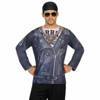 Goedkoop carnavalskleding outlaw biker shirt
