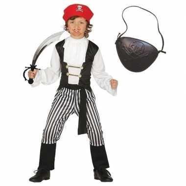 Goedkoop carnavalskleding piraat maat jongens/meisjes