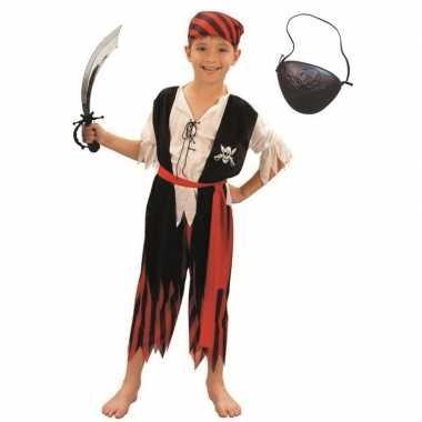 Goedkoop carnavalskleding piraat maat m jongens/meisjes