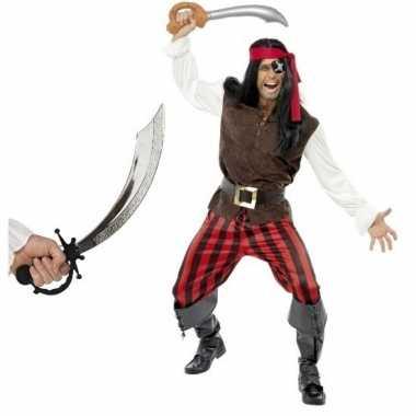 Goedkoop carnavalskleding piraat zwaard maat m mannen