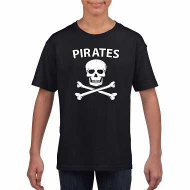 Goedkoop carnavalskleding piraten shirt zwart kinderen