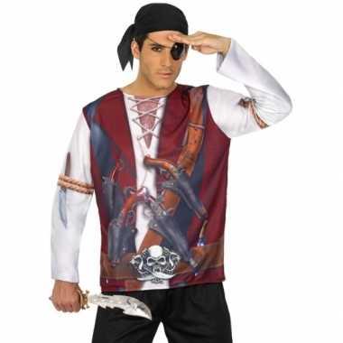 Goedkoop carnavalskleding piraten shirt