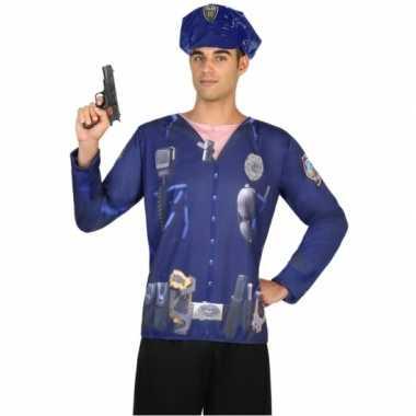 Goedkoop carnavalskleding politie shirt