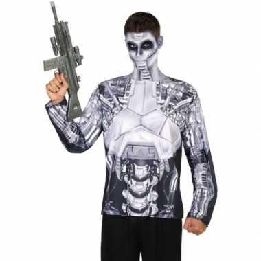 Goedkoop carnavalskleding robot shirt