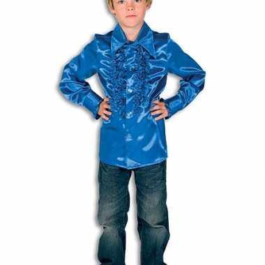 Goedkoop carnavalskleding rouches kobaltblauw kinderen 10037350