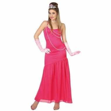 Goedkoop carnavalskleding roze prinsessen jurk dames