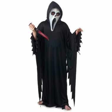 Goedkoop carnavalskleding scream/scary movie skelet moordenaars cape