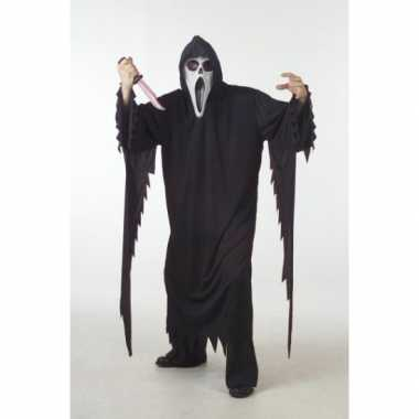 Goedkoop carnavalskleding scream/scary movie skelet moordenaars cape