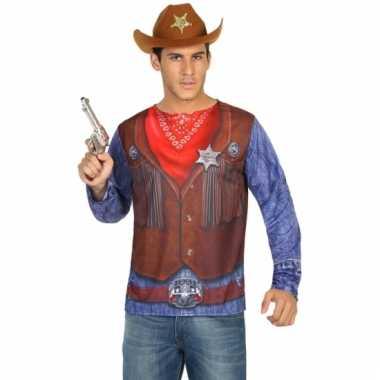 Goedkoop carnavalskleding sheriff shirt