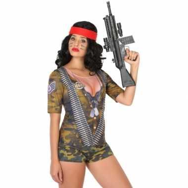 Goedkoop carnavalskleding soldaten shirt