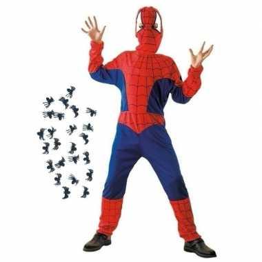 Goedkoop carnavalskleding spinnenheld carnavalskleding spinnetjes maat s kids