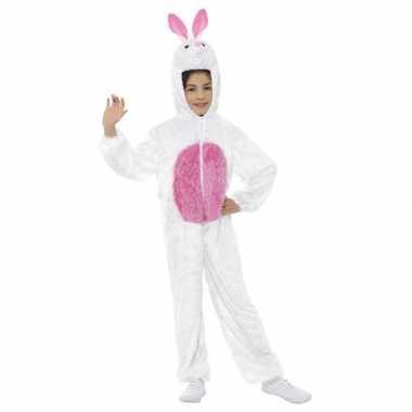 Goedkoop carnavalskleding wit konijn/haas kinderen