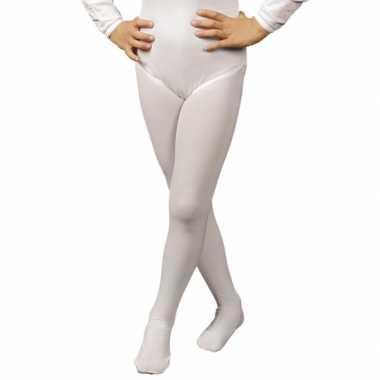 Goedkoop carnavalskleding witte kinder panty