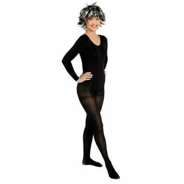Goedkoop carnavalskleding zwarte panty dames