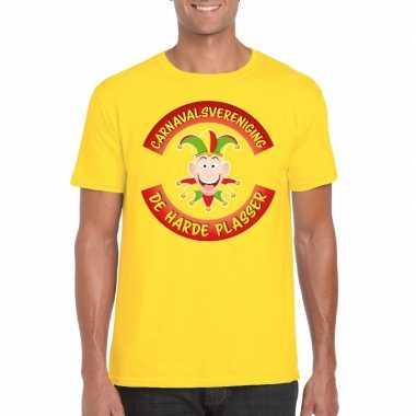 Goedkoop carnavalsvereniging harde plasser limburg heren t shirt geel