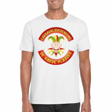 Goedkoop carnavalsvereniging harde plasser limburg heren t shirt wit