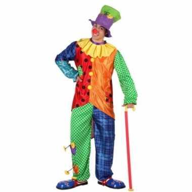 Goedkoop clown carnavalskleding mannen