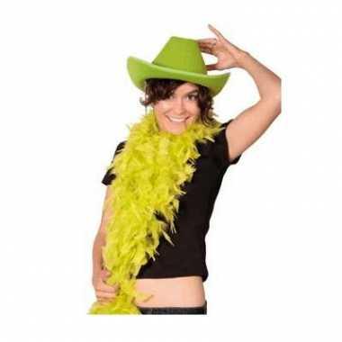 Goedkoop  Cowboy hoed groen carnavalskleding