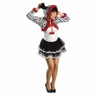 Goedkoop dames dalmatier hond carnavalskleding