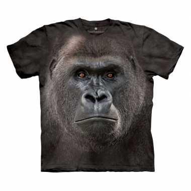 Goedkoop dieren shirts aap kids carnavalskleding