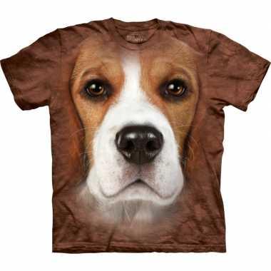Goedkoop dieren shirts beagle hond volwassenen carnavalskleding