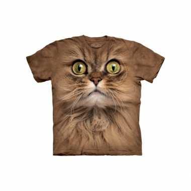 Goedkoop  Dieren shirts bruine kat carnavalskleding