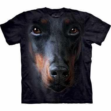 Goedkoop dieren shirts doberman bruin carnavalskleding