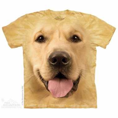 Goedkoop dieren shirts golden retriever hond volwassenen carnavalskle