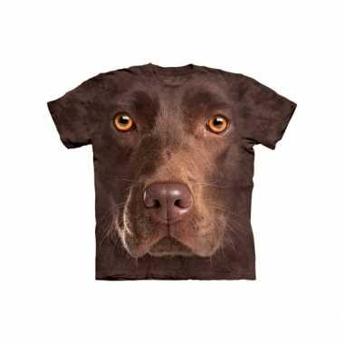 Goedkoop  Dieren shirts Labrador bruin kids carnavalskleding
