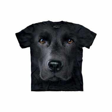 Goedkoop  Dieren shirts Labrador zwart kids carnavalskleding
