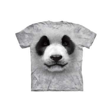 Goedkoop dieren shirts panda zwart wit kids carnavalskleding
