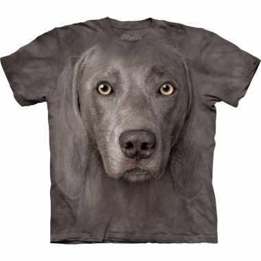 Goedkoop dieren shirts weimaraner hond volwassenen carnavalskleding