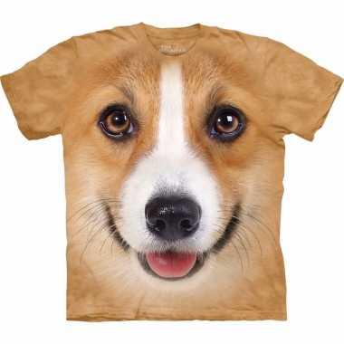 Goedkoop dieren shirts welsh corgi pembroke hond volwassenen carnaval