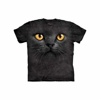 Goedkoop  Dieren shirts zwarte kat vowassenen carnavalskleding
