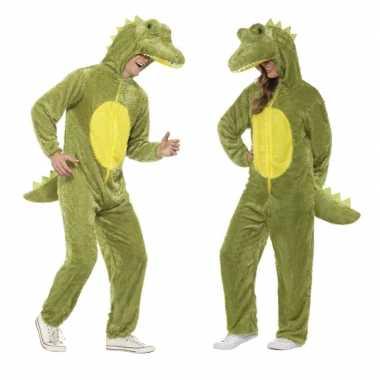 Goedkoop dieren verkleed carnavalskleding onesie krokodil kids