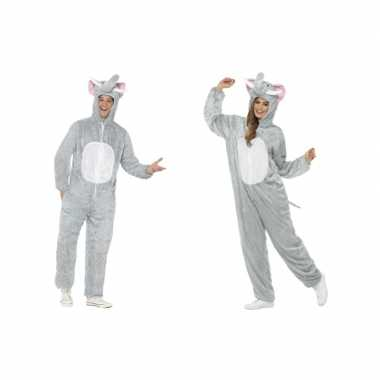 Goedkoop dieren verkleed carnavalskleding onesie olifant kids
