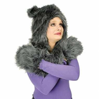 Goedkoop dieren verkleed set kat carnavalskleding