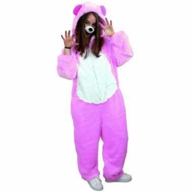 Goedkoop dierencarnavalskledingken paarse beer volwassenen
