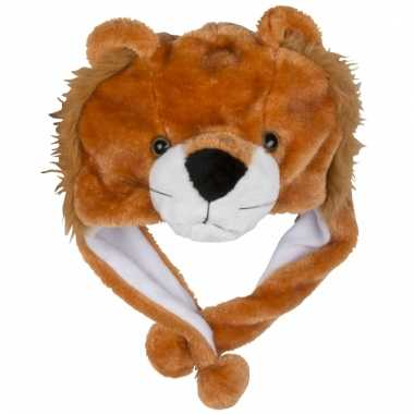 Goedkoop dierenmuts leeuwtje kinderen carnavalskleding
