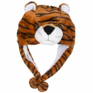 Goedkoop dierenmuts tijgertje kinderen carnavalskleding