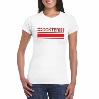 Goedkoop dokter logo t shirt wit dames carnavalskleding