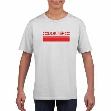 Goedkoop dokter logo t shirt wit kinderen carnavalskleding