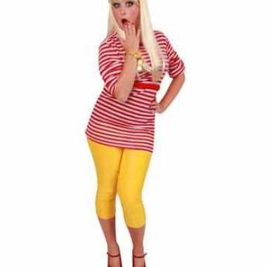 Goedkoop dorus shirt rood wit dames carnavalskleding
