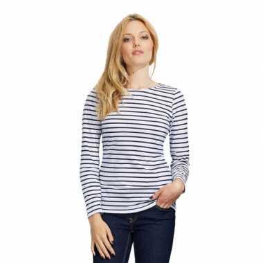 Goedkoop  Dorus t-shirt wit blauw dames carnavalskleding